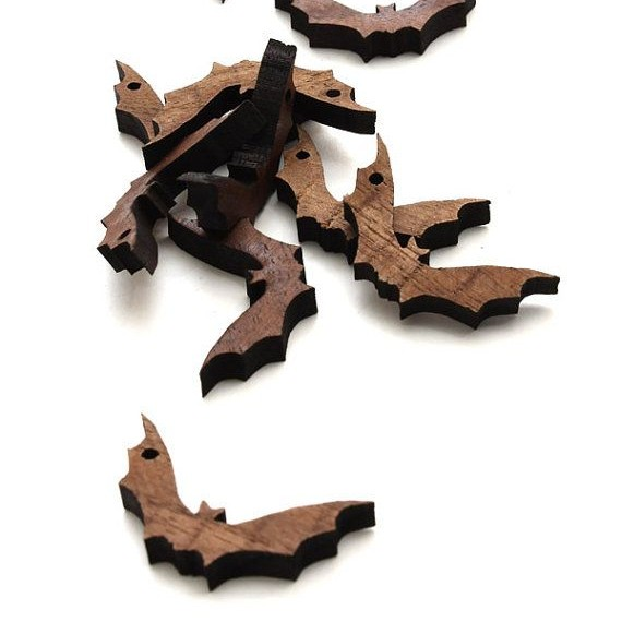 Halloween Mini Bat Beads